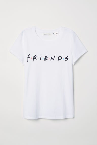 T-shirt with Printed Text Model