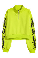Short sweatshirt - Neon green - Ladies | H&M CN 2