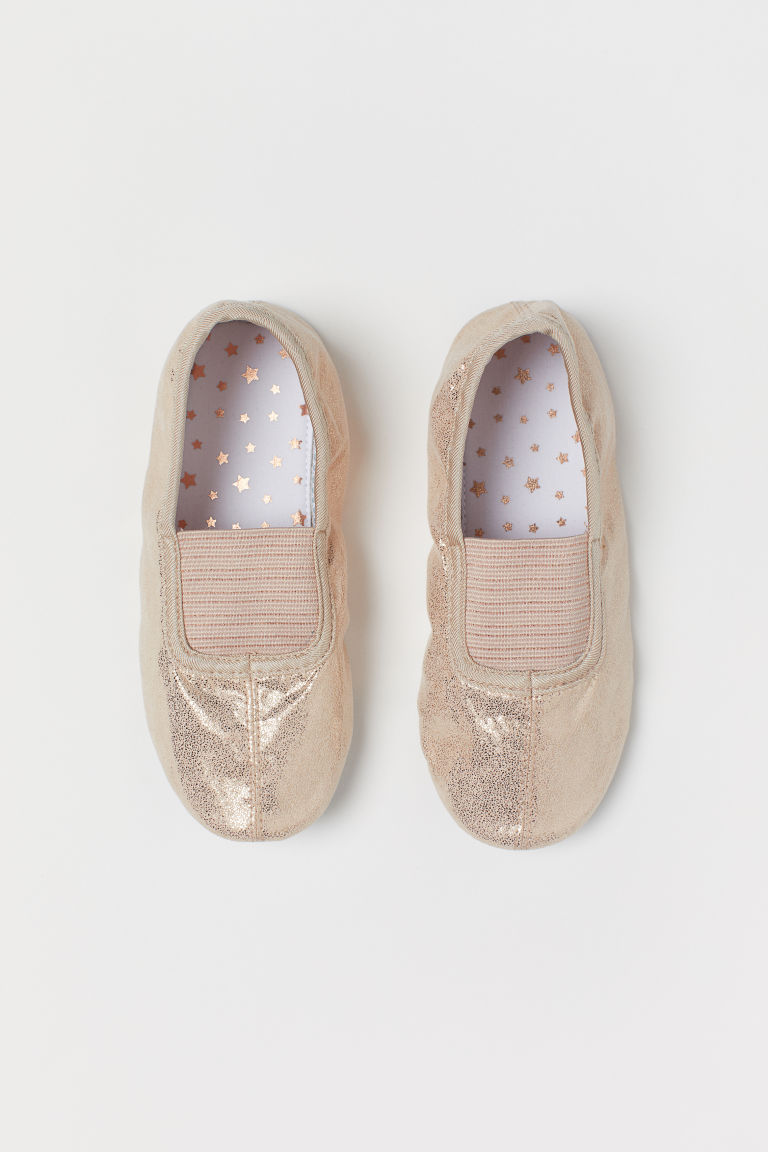 Glittery dance shoes - Rose gold-coloured - Kids | H&M GB