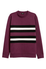 Block-striped sweatshirt - Plum/Multicoloured - Men | H&M GB 2