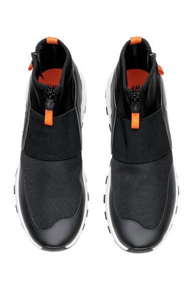 Mesh and scuba fabric trainers - Black - Men | H&M