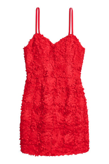 Fitted dress - Red - Ladies | H&M