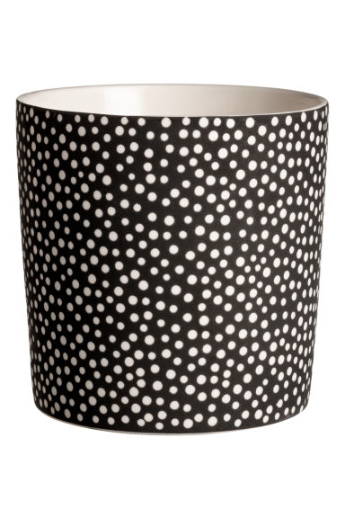 Scented candle in holder - Black/Wild Garden - Home All | H&M IE