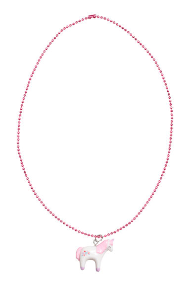 Necklace with a pendant - Pink/Unicorn - Kids | H&M CN 1