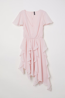 Chiffon Dress with Flounces