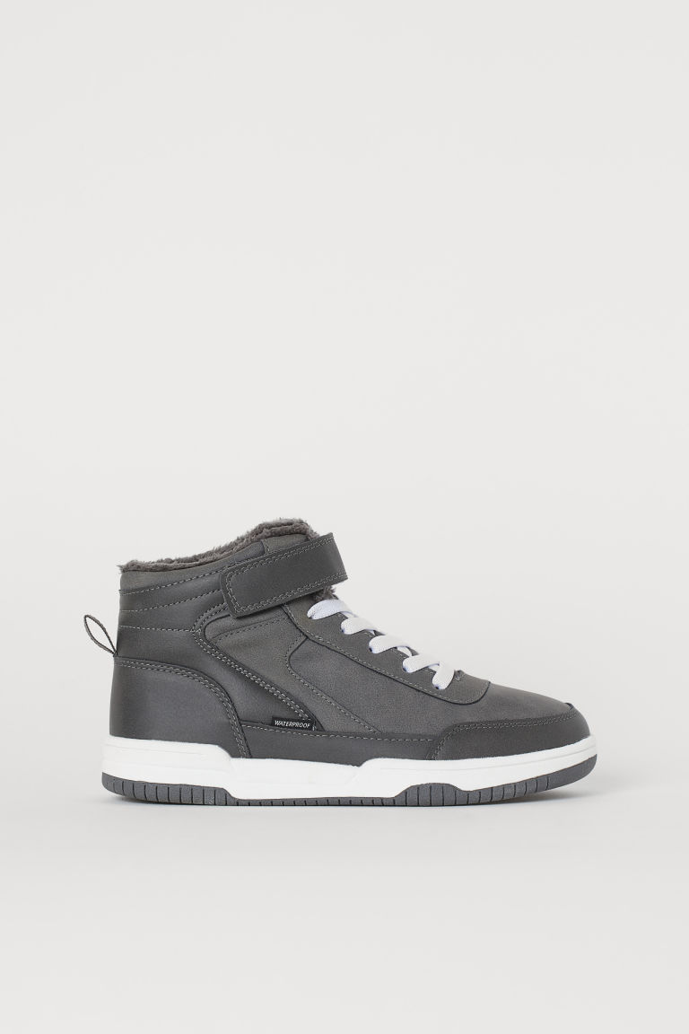 Waterproof hi-tops - Dark grey - Kids | H&M GB