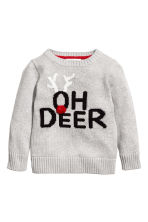 Knitted jumper - Grey marl - Kids | H&M CN 1