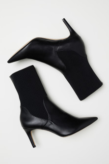Ankle boots with a soft shaft