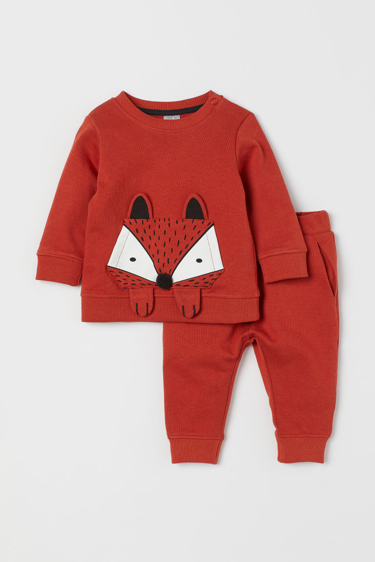 Sweatshirt and joggers - Dark orange/Fox -  | H&M GB