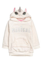 Hooded fleece top - White/Unicorn - Kids | H&M CN 2