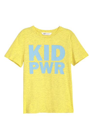 Printed T-shirt - Yellow/Kid Pwr -  | H&M