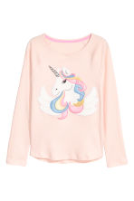 Jersey pyjamas - Powder pink/Unicorn - Kids | H&M CN 2