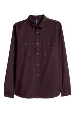 Camicia in twill - Bordeaux - UOMO | H&M IT 2