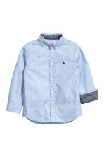 Cotton shirt - Light blue/Stars - Kids | H&M CN 3