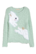 Fluffy jumper - Mint green - Kids | H&M CN 1