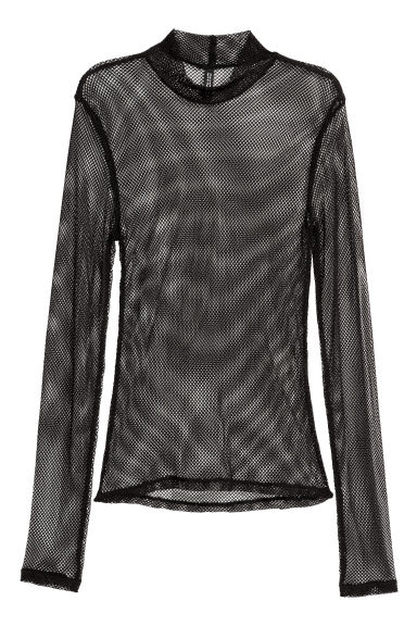Mesh top - Black -  | H&M IE