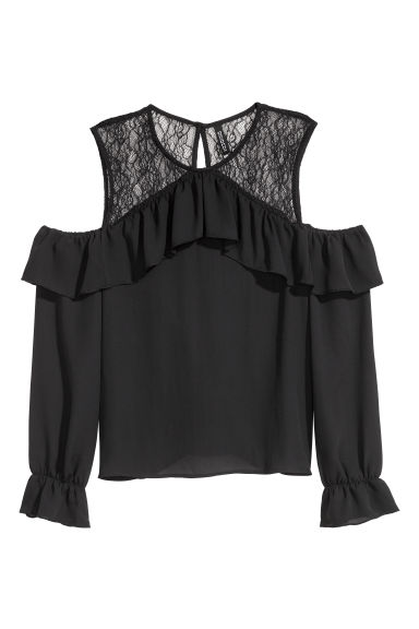 Cold shoulder top - Black -  | H&M GB