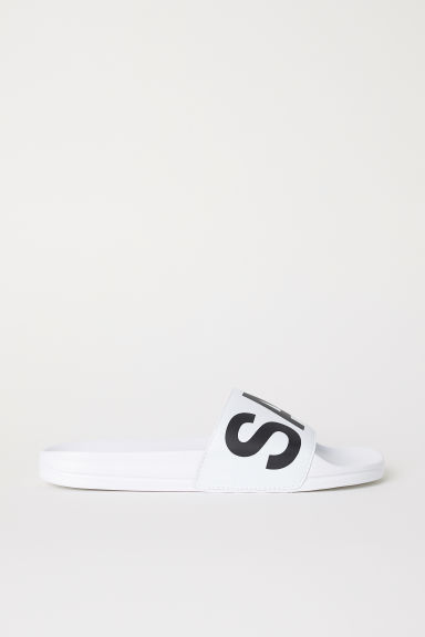 Badslippers - Wit - HEREN | H&M BE