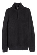 Ribbed jumper - Black - Men | H&M GB 2