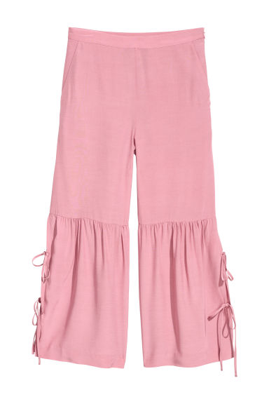 Culottes with lacing - Dusky pink -  | H&M