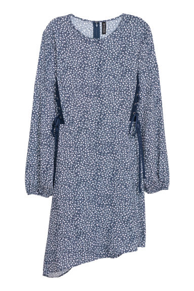 Patterned dress - Dark blue/Small floral -  | H&M