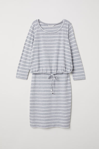 MAMA Nursing dress - Grey/Striped -  | H&M