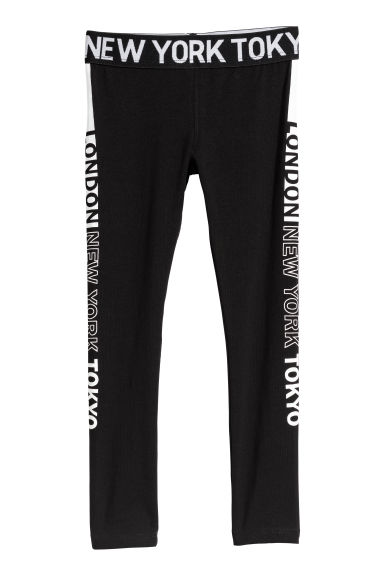 Leggings - Black/London - Kids | H&M