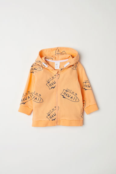 Hooded top - Light orange/Hawaii - Kids | H&M CN