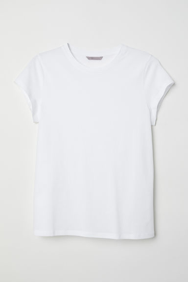 H&M+ Jersey top - White -  | H&M GB