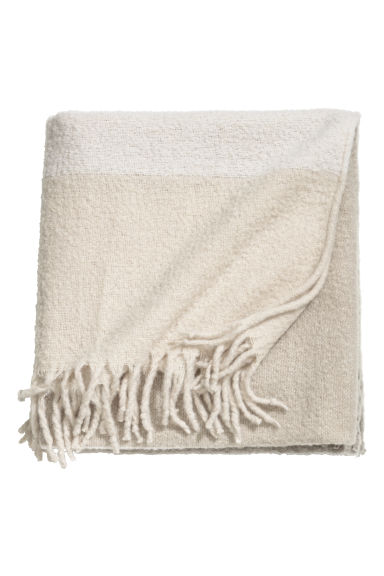 Wool-blend blanket - Light beige - Home All | H&M CN