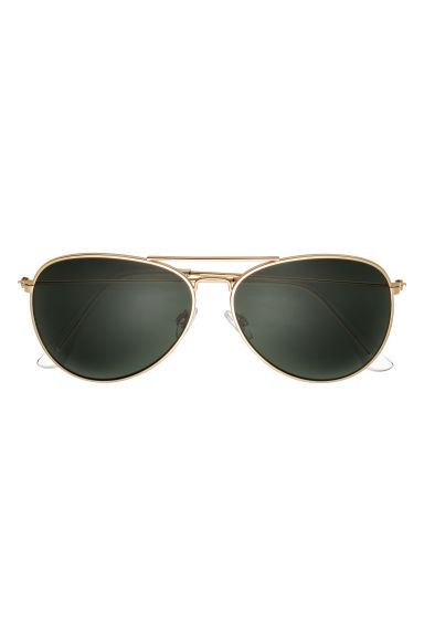 Sunglasses - Gold-coloured/Dark green -  | H&M