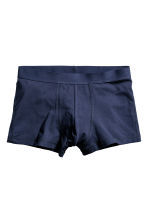 3-pack trunks - Dark blue/Checked - Men | H&M IE 3