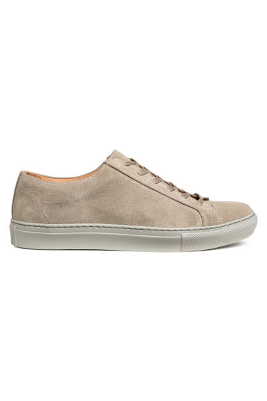 Suède sneakers - Taupe - HEREN | H&M NL