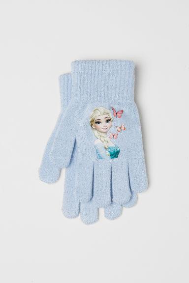 Gloves with a motif - Light blue/Frozen - Kids | H&M GB
