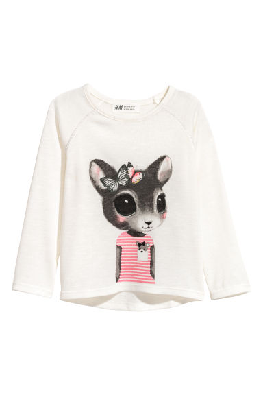 Pull en maille fine - Blanc/lapin -  | H&M FR