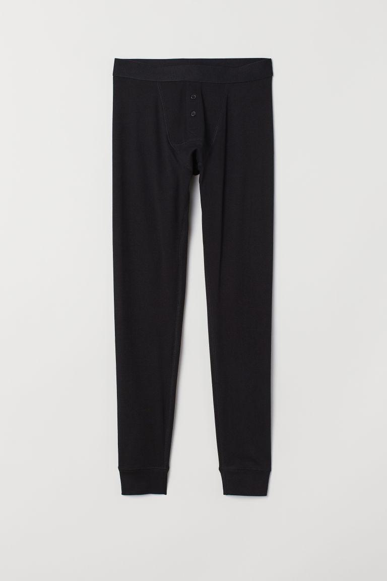 Cotton longjohns - Black - Men | H&M GB