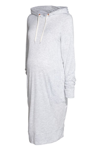 MAMA Sweatshirt dress - Light grey marl -  | H&M IE