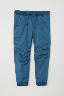 Pull-on twill trousers