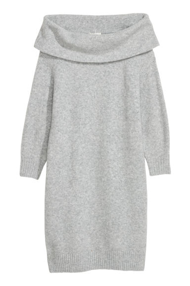 Knitted dress - Light grey marl - Ladies | H&M IE