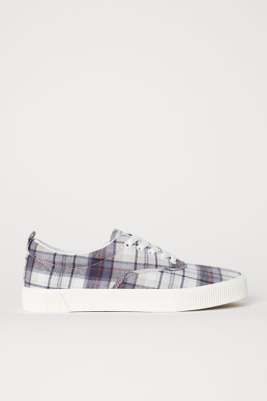 Trainers - Beige/Checked - Men | H&M CN