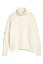 Knitted polo-neck jumper - White - Ladies | H&M CN 2