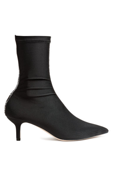 Sock-style court shoes - Black - Ladies | H&M CN