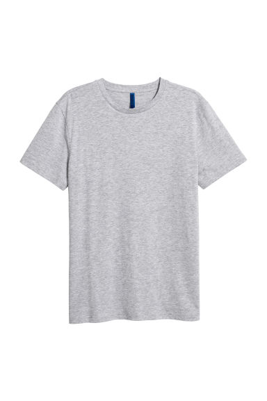 Round-necked T-shirt - Grey marl -  | H&M