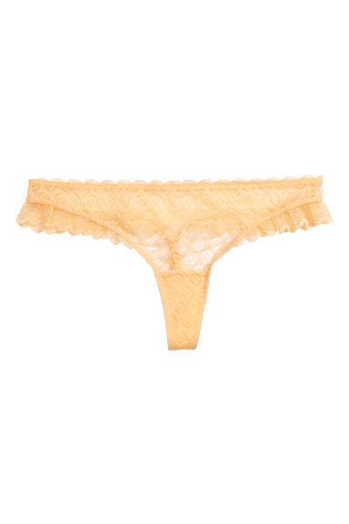 Thong in pizzo - Giallo - DONNA | H&M IT