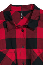 Checked shirt - Red/Checked - Ladies | H&M CN 3
