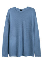 Textured-knit jumper - Blue - Men | H&M 2