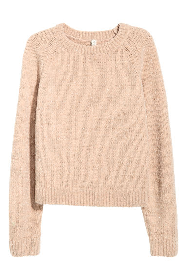Chenille jumper - Powder beige - Ladies | H&M CN