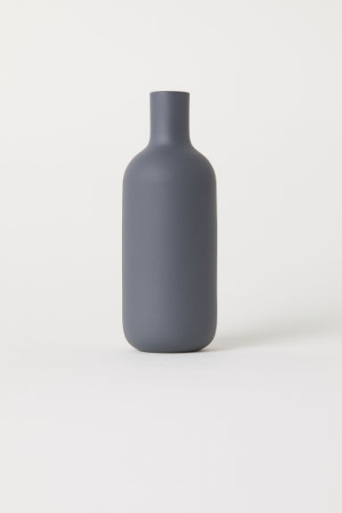 Small glass vase - Dark grey - Home All | H&M IE
