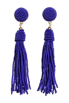 Earrings with glass beads