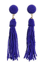 Earrings with glass beads - Bright blue - Ladies | H&M GB 1